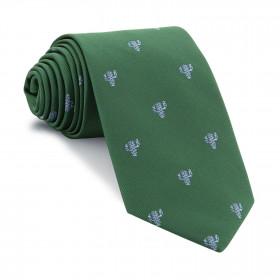 Corbata Verde Cactus Celeste