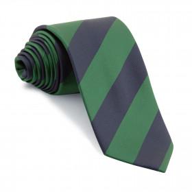 Corbata Rayas Club Marino y Verde Botella