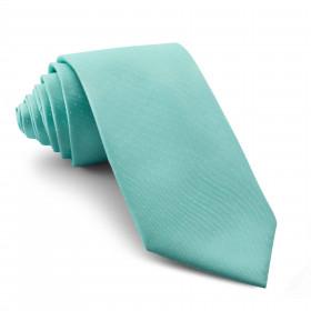 Corbata Verde Agua con Lunares Pequeños Blancos