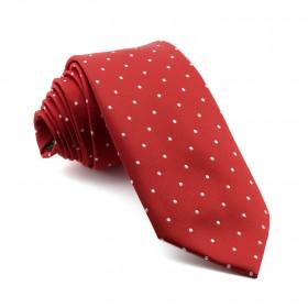 Corbata Roja Lunares Blancos