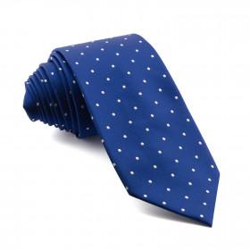 Corbata Azul Lunares Blancos