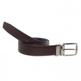 Cinturón Piel Reversible Marrón para hombre