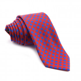 Corbata Roja Lunares Azules