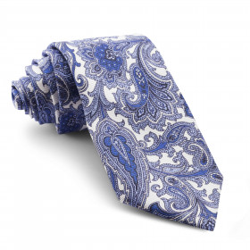 Corbata Blanca Cachemir