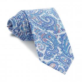 Corbata Celeste Cachemires Azules y Turquesa