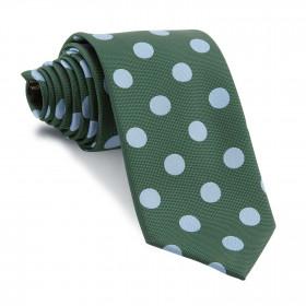 Corbata Verde Lunares Grandes Celestes