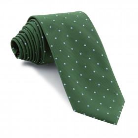 Corbata Verde Botella Lunares Celestes