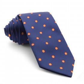 Corbata Marino con Círculos colores de España
