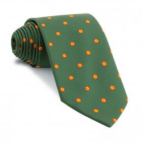 Corbata Verde Botella con Círculos de España