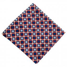 Pañuelo Blanco Dibujo Azul y Rojo