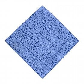 Pañuelo Azul Flores en Marino y Blanco