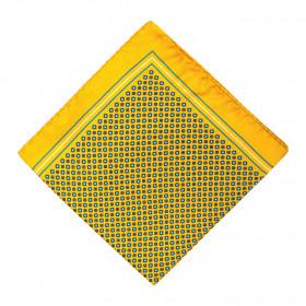 Pañuelo Amarillo Dibujos Azules