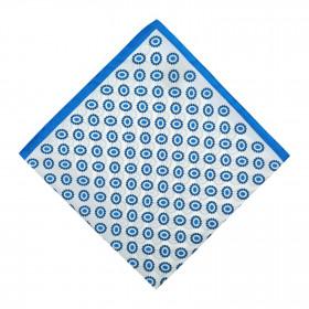 Pañuelo Blanco Dibujo Azul