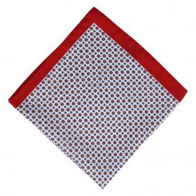 Pañuelo Blanco Dibujo Rojo