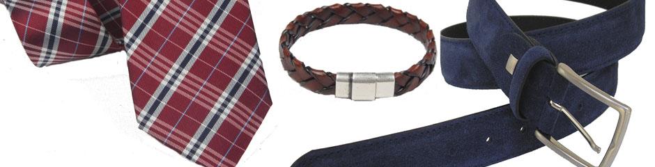 Corbata, cinturçon, pulsera